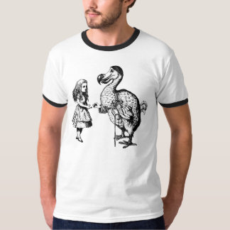 Alice and the Dodo Inked Black T-Shirt
