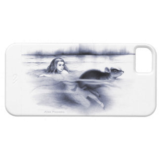 Alice and the door mouse in the Pool of Tears iPhone SE/5/5s Case