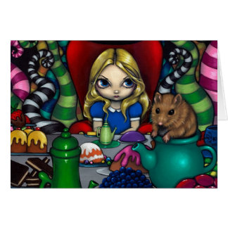 """""""Alice and the Dormouse"""" Greeting Card"""