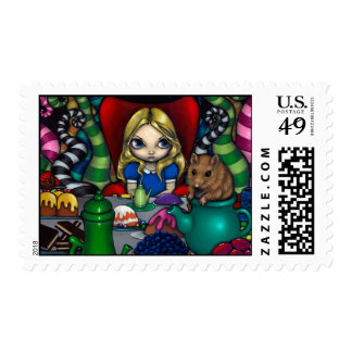 """""""Alice and the Dormouse"""" Stamp"""