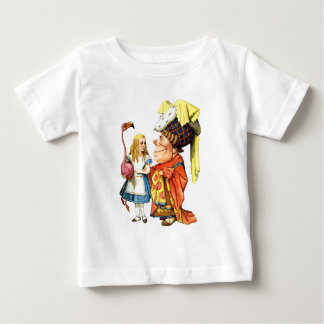 Alice and the Duchess Discuss Flamingo Croquet Baby T-Shirt