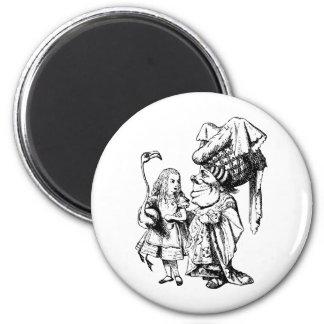Alice and the Duchess Inked Black Fridge Magnet
