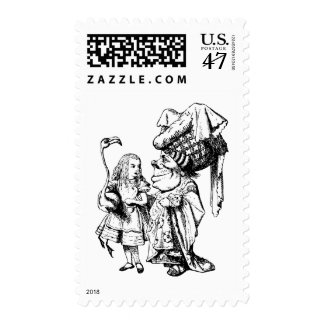 Alice and the Duchess Inked Black Postage