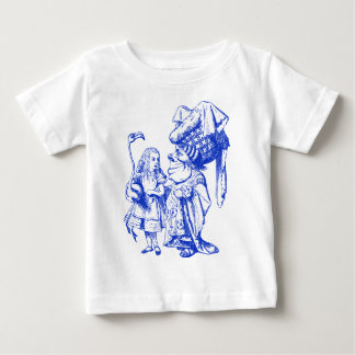 Alice and the Duchess Inked Blue Baby T-Shirt