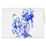 Alice and the Duchess Inked Blue Greeting Cards
