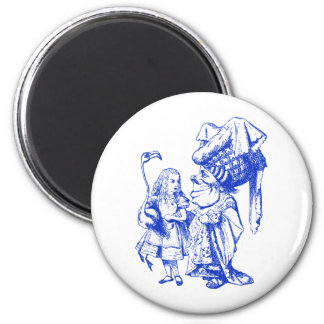 Alice and the Duchess Inked Blue Refrigerator Magnet