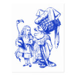 Alice and the Duchess Inked Blue Post Card