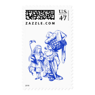 Alice and the Duchess Inked Blue Postage