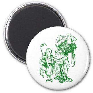 Alice and the Duchess Inked Green Magnets