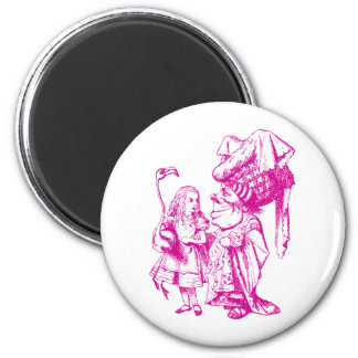 Alice and the Duchess Inked Pink Refrigerator Magnet