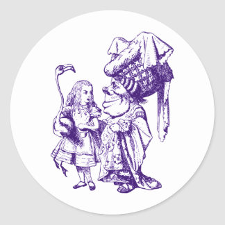 Alice and the Duchess Inked Purple Classic Round Sticker