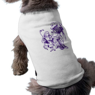 Alice and the Duchess Inked Purple Pet T Shirt