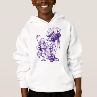 Alice and the Duchess Inked Purple Hoodie