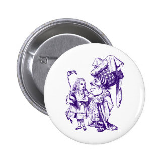 Alice and the Duchess Inked Purple Pinback Button