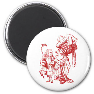 Alice and the Duchess Inked Red Fridge Magnets
