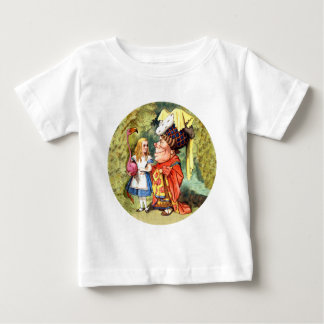 Alice and the Duchess Play Flamingo Croquet Baby T-Shirt