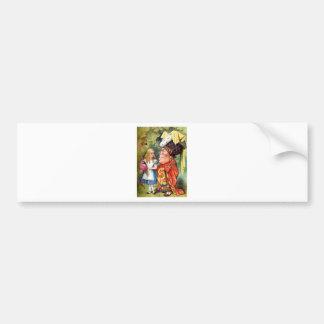 Alice and the Duchess Play Flamingo Croquet Car Bumper Sticker