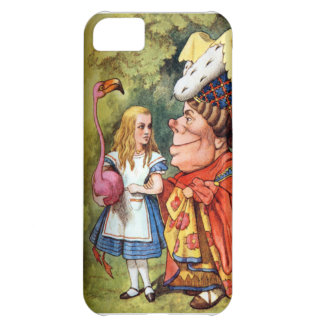 Alice and the Duchess Play Flamingo Croquet iPhone 5C Cases
