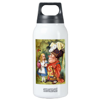 Alice and the Duchess Play Flamingo Croquet Insulated Water Bottle