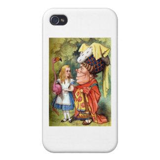 Alice and the Duchess Play Flamingo Croquet iPhone 4/4S Cases