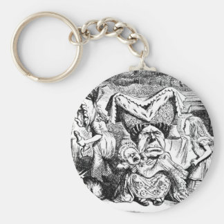 Alice and the Duchess, the Cook & the Cheshire Cat Basic Round Button Keychain
