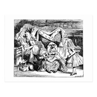 Alice and the Duchess, the Cook & the Cheshire Cat Postcard