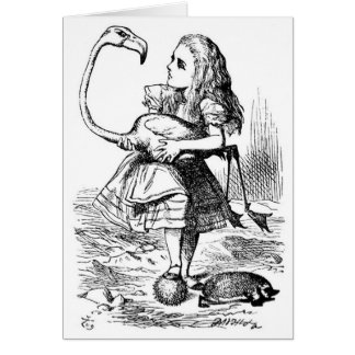 Alice and the Flamingo Card