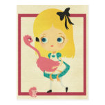 Alice and the Flamingo Postcard