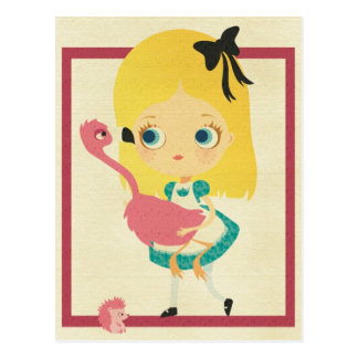 Alice and the Flamingo Postcard