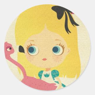 Alice and the Flamingo sticker