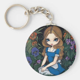 """Alice and the Flowers"" Keychain"