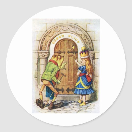 Alice and the Frog at the Alice Palace Classic Round Sticker