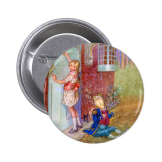 Alice and The Frog Footman At The Duchess' Doorway Pinback Button
