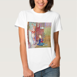 Alice and The Frog Footman At The Duchess' Doorway T-shirt