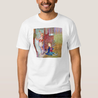 Alice and The Frog Footman At The Duchess' Doorway T Shirt