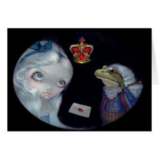 """Alice and the Frog Footman"" Greeting Card"