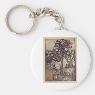 Alice and the Knave of Hearts Basic Round Button Keychain
