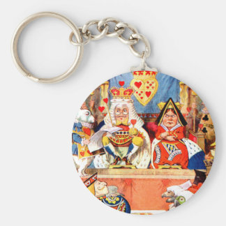 Alice and The Knave of Hearts Trial in Wonderland Basic Round Button Keychain