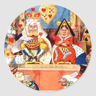 Alice and The Knave of Hearts Trial in Wonderland Classic Round Sticker