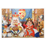 Alice and The Knave of Hearts Trial in Wonderland Cloth Place Mat