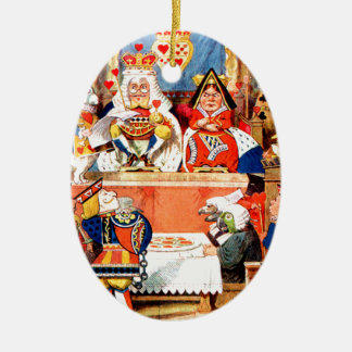 Alice and The Knave of Hearts Trial in Wonderland Ornaments