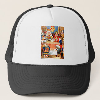 Alice and The Knave of Hearts Trial in Wonderland Trucker Hat