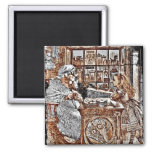 Alice and the Knitting Sheep Fridge Magnets