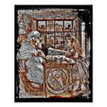 Alice and the Knitting Sheep Print