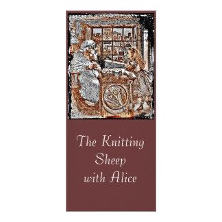 Alice and the Knitting Sheep Custom Rack Card
