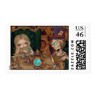 Alice and the Mad Hatter Stamp