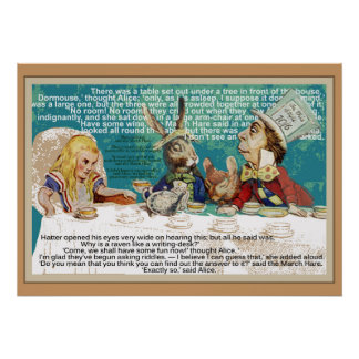 Alice and the Mad Hatter Tea Party Poster
