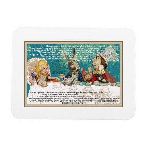Alice and the Mad Hatter Tea Party Rectangular Magnets