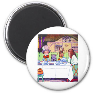 Alice and the Mad Hatter's Tea Party 2 Inch Round Magnet