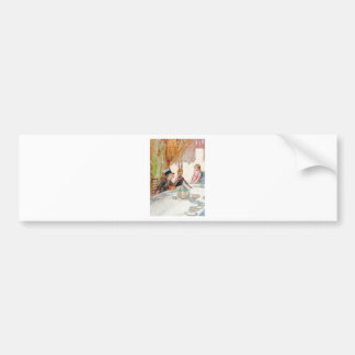Alice and the Mad Hatter's Tea Party Bumper Sticker